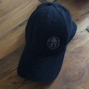 Black spartan race hat